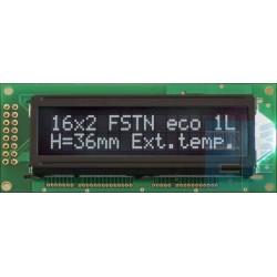 WYŚWIETLACZ LCD 2x16 H MHW W/K CYRYLICA 16x2