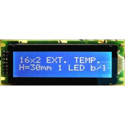 WYŚWIETLACZ LCD 2x16 F W1B B/W h:30mm CYRYLICA 16x2