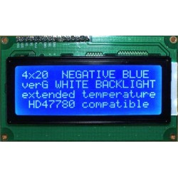 WYŚWIETLACZ LCD 4x20 G BIW W/B 20x4 NIEBIESKI