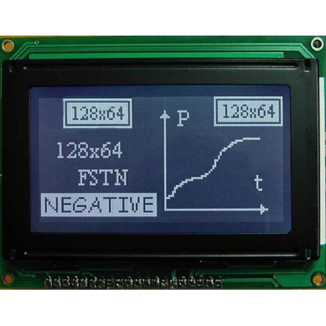 WYŚWIETLACZ GRAFICZNY LCD 128x64 A W/K MIW - TERAZ 59zł !!!