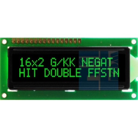 BLACKLINE LCD 2x16 E G/KK DLG 16x2 GREEN CYRYLICA NOWOŚĆ !!!