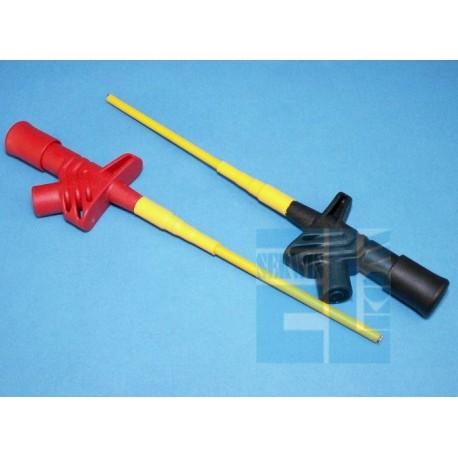 CHWYTAK POMIAROWY PAZUREK GNIAZDO 4mm CZERWONY DŁUGOŚĆ 160mm