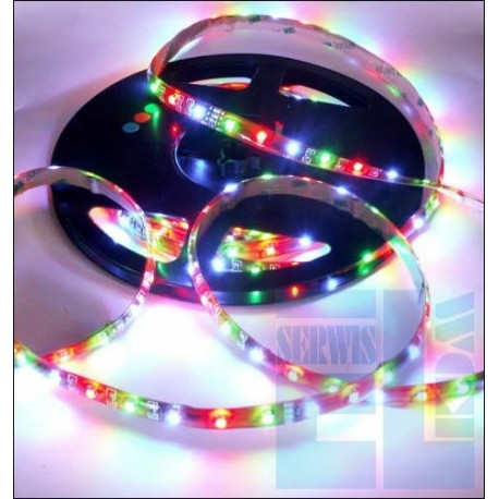 SZNUR TAŚMA DIODOWA ELASTYCZNA / GIĘTKA LED RGB 12V - 30 LED 50cm - SILIKON
