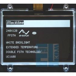 BLACKLINE WYŚWIETLACZ GRAFICZNY LCD 240x128 D DIW W/KK FFSTN + ZŁĄCZE smd