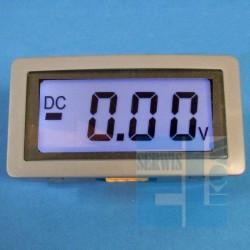 WOLTOMIERZ PANELOWY 0 - 20V DC LCD 3,5 cyfry KS5135C- MODUŁ NIEBIESKIE PODŚWIETLENIE