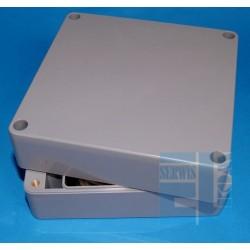 OBUDOWA G-386 ABS 120x120x60mm uszczelka IP65 Ciemnopopielata