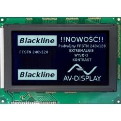 BLACKLINE WYŚWIETLACZ GRAFICZNY LCD 240x128 DIW W/KK - T6963C GENERATOR ZNAKÓW