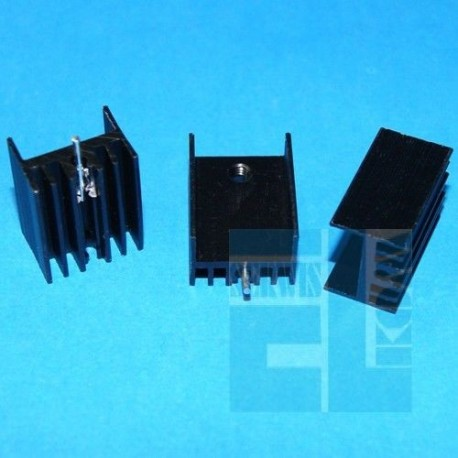 Radiator DY 20mm Czarny TO220 Gwintowany
