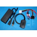 "Konwerter - Adapter Dysków - USB na 2x IDE 2,5"" i 3,5"" + S-ATA"
