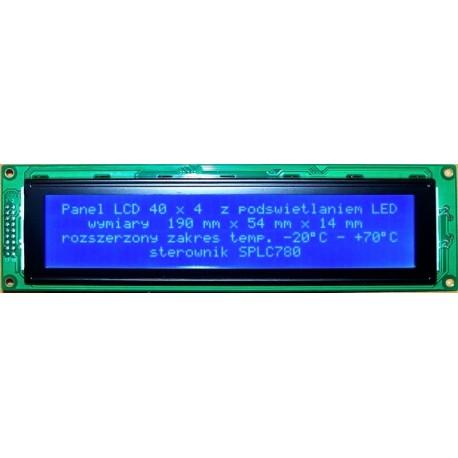 WYŚWIETLACZ LCD 4x40 w. B 4004B W/B 40x4