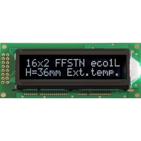 BLACKLINE LCD 2x16 H DLW WKK h:36mm 16x2 LED CYRYLICA