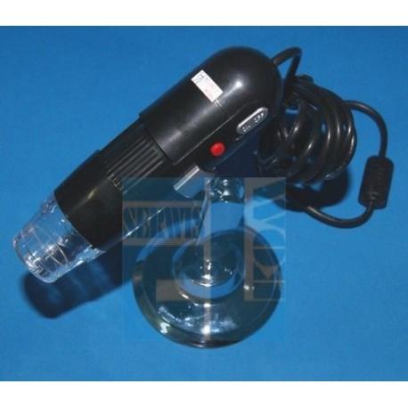 Cyfrowy mikroskop USB + Oświetlenie 8 LED