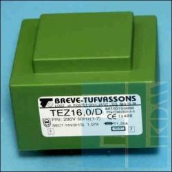 TRANSFORMATOR SIECIOWY TEZ 16D 16W 230V 2x 12V 2x0,67A ZALEWANY W DRUK