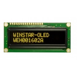 WYŚWIETLACZ LCD OLED 2x16 WEH 1602 ALPP5 NEGATYW ŻÓŁTY CYRYLICA 16x2