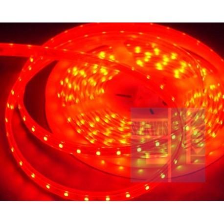 SZNUR TAŚMA DIODOWA ELASTYCZNA / GIĘTKA LED CZERWONA 12V - 300 LED 5m - w osłonie