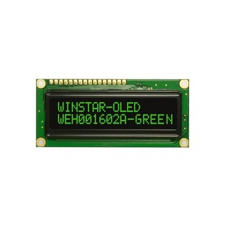 WYŚWIETLACZ LCD OLED 2x16 WEH1602 ALPP5 NEGATYW ŻÓŁTY 16x2