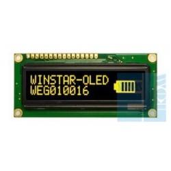 WYŚWIETLACZ LCD OLED 2x16 WEG1002 ALPP5 NEGATYW ŻÓŁTY 16x2