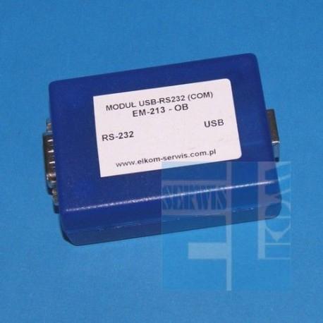 INTERFEJS KONWERTER USB-RS232 - EM213 MODUŁ w OBUDOWIE + KOMPLET PRZEWODÓW