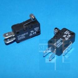 MIKROPRZEŁĄCZNIK VT1605-1C 16A 250VAC NO+NC L-12mm KÓŁKO