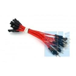 Zestaw 10szt Kabli-zworek 20cm połączeniowych WTYK-GNIAZDO /039