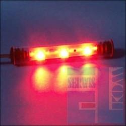 TUBA NEON LED FLUX 9cm CZERWONY 12V + UCHWYTY