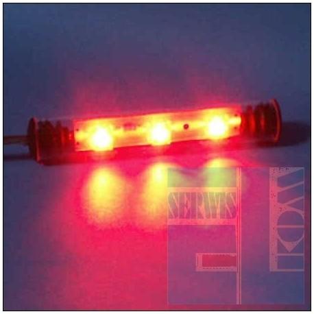 TUBA NEON LED FLUX 9cm CZERWONY 12V