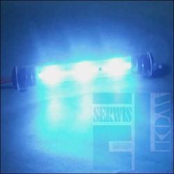 TUBA NEON LED FLUX 9cm NIEBIESKI 12V + Uchwyty