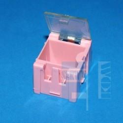 POJEMNIK MODUŁOWY ORGANIZER PK-1 Z KLAPKĄ 26x31.5x21.5mm