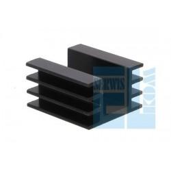 Radiator DY-AM 35mm Czarny TO220 Gwintowany