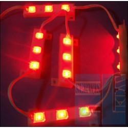 PODŚWIETLENIE LISTWA 3 LED FLUX CZERWONA 12V WODOSZCZELNA