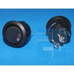 PRZEŁĄCZNIK R13 112L02BBR0L3 KLAWISZOWY CZARNY 6A/250V 0-1 PODSW. LED 12V