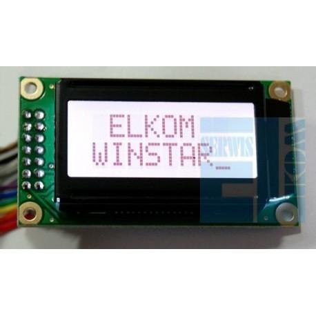 WYŚWIETLACZ LCD 2x8 WH0802 A TFH CT ! WINSTAR ! BIAŁE PODŚW. POZYTYW CYRYLICA 8x2