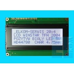 WYŚWIETLACZ LCD 4x20 WH2004 A YYH LED Y/G CYRYLICA 20x4
