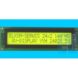 WYŚWIETLACZ LCD 2x24 Y/G 24x2 POZYTYW 2402A