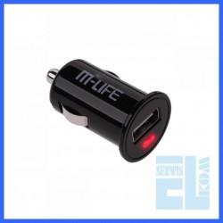 ŁADOWARKA SAMOCHODOWA MLIFE GN.USB 1A /ML0318