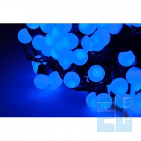 SZNUR 100x LED LAMPKI OZDOBNE NIEBIESKIE CHOINKOWE 10m
