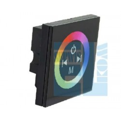 STEROWNIK LED RGB PANEL ŚCIENNY 4A/KAN CZAR. 86x86x36mm CTRL-T-P3