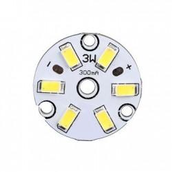 MODUŁ 6-LED 5630 3W 9-11V d-32mm BIAŁY