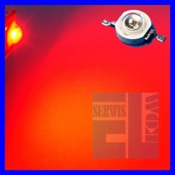DIODA LED POWER 1W CZERWONA 40lm 140st ALS-P1000mW