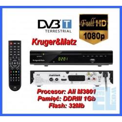 TUNER CYFROWY DVB-T HD KRUGER&MATZ MPEG-4 KM0201