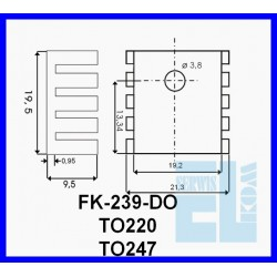 RADIATOR FK239-DO CZARNY U TO220 TO247 19,5mm