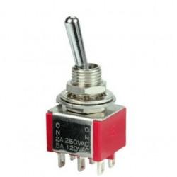 Przełącznik dźwigniowy T80-8012 3*2 ON-OFF-ON bistabilny 2A 250VAC