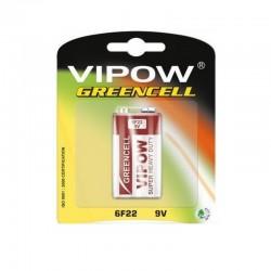 BATERIA 9V 6F22 VIPOW GREENCELL blister