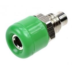 GNIAZDO BANAN 2mm zielone 24.107.4 15mm M5 10A 60V