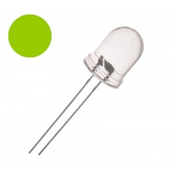DIODA LED 10mm ZIELONA 150mcd GREEN CLEAR