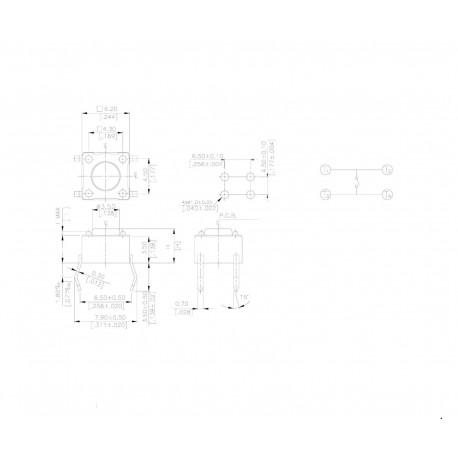 MIKROPRZYCISK 6mm A06 4-P H-10mm