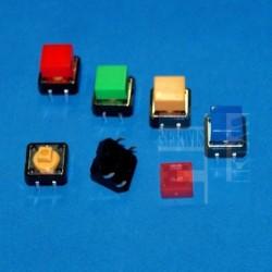 MIKROPRZYCISK 12x12mm + KLAWISZ KWADRAT ŻÓŁTY h-11mm