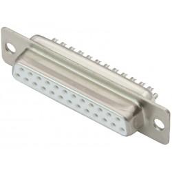 DB25 GNIAZDO PROSTE 25 pin - CANON 25 P LUTOWANE NA KABEL