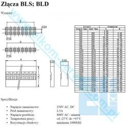 PINY BL-T do GNIAZD BLS BLD PROSTE 2,54mm ZŁĄCZE 1szt