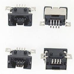 USB GNIAZDO TYP MINI A 4-PIN